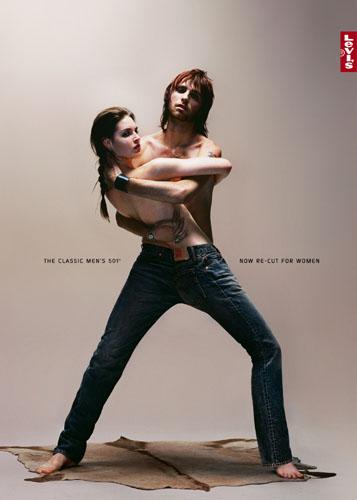 levis裤子广告