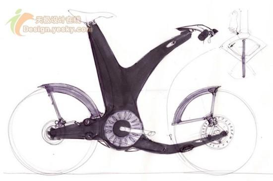 染手绘创意自行车