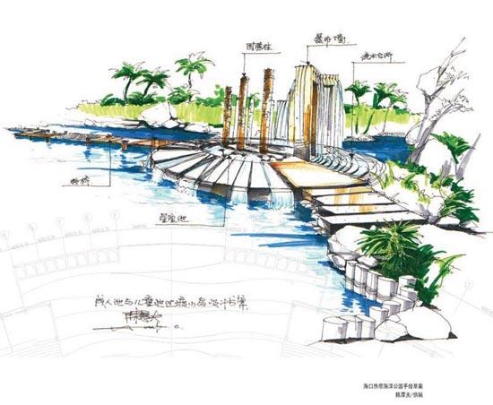 陈厚夫海洋公园手绘效果图