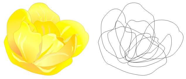 创意树叶花朵粘贴画