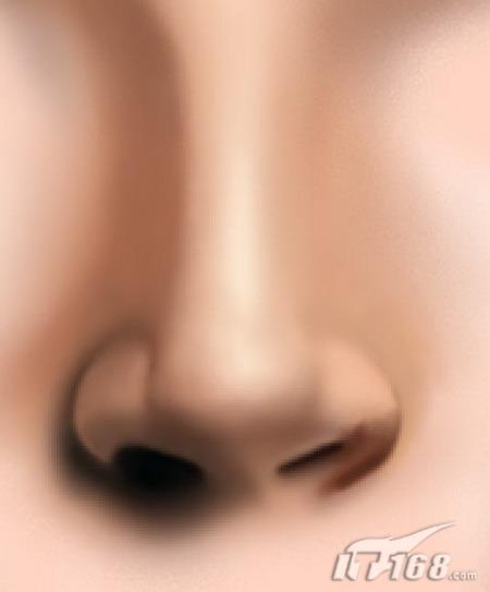 鼻子不像眼睛嘴巴那样有明显的明暗转折面