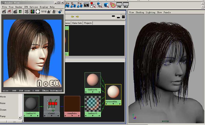 3s皮肤材质调节教程 maya置换贴图和法线贴图赋值脸部细节  一个人物