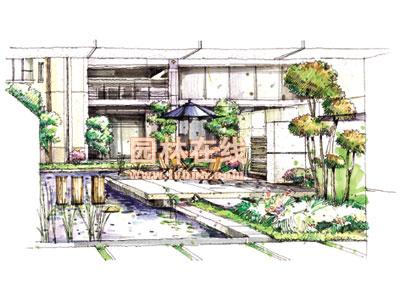 中式庭院平面设计图手绘