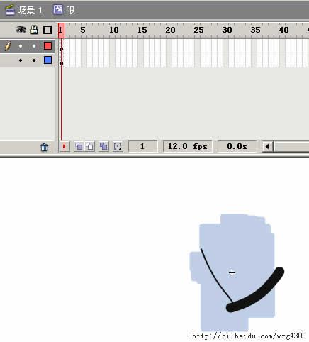 Flash制作动漫中常用的眨眼效果动画