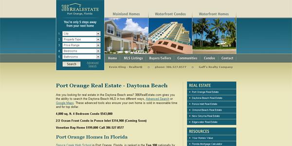 18个国外房地产网站设计欣赏