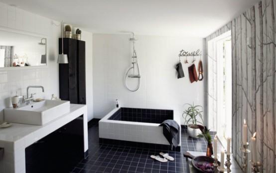 家装设计-超酷的黑白浴室设计