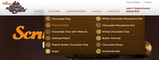 网站设计之下拉导航菜单设计