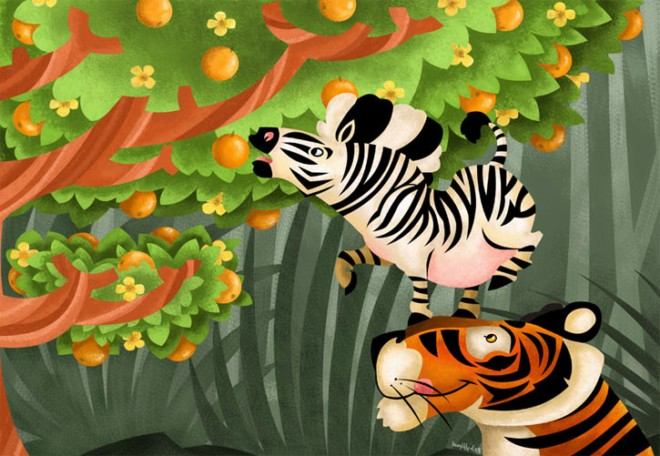gifford可爱动物插画欣赏-欣赏-创意在线