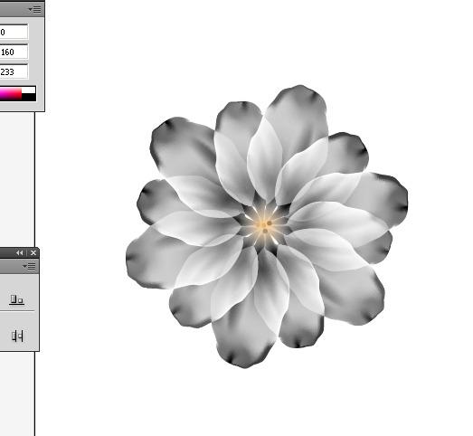 ai绘制简单花朵-教程-创意在线