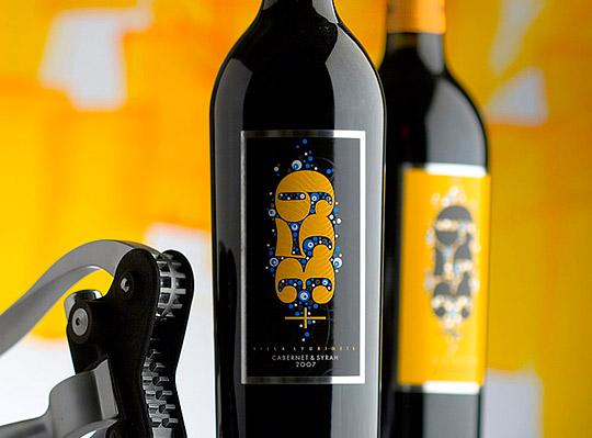 漂亮的葡萄酒瓶贴标签设计-欣赏-创意在线图片