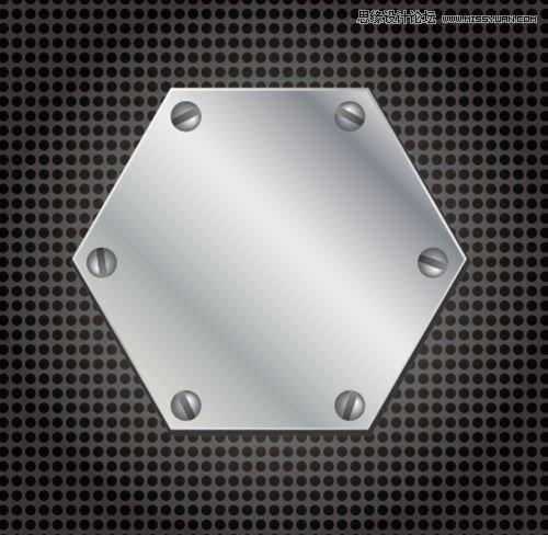 Illustrator教程:利用多边形打造正六边钢板