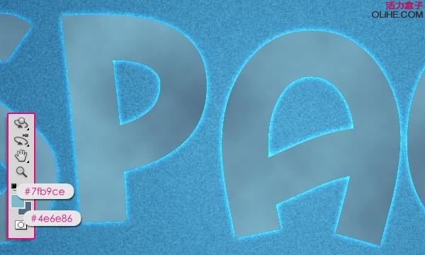 ps制作蓝色立体卡通字体