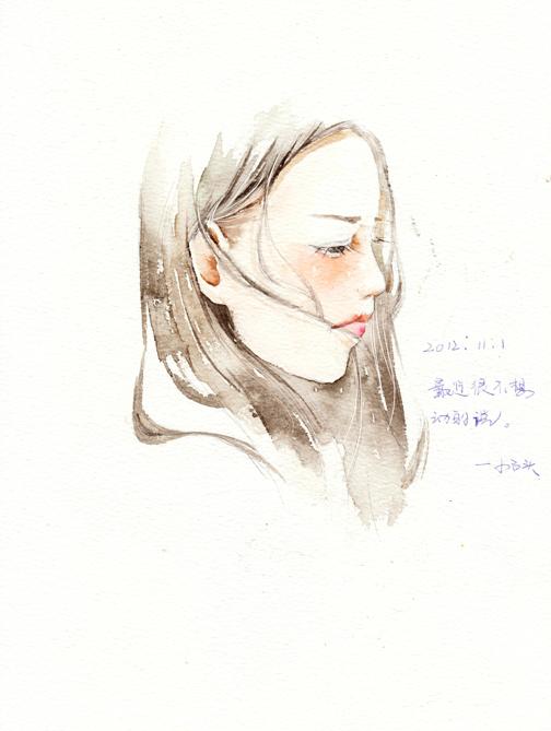 夏岚清新手绘水彩插画-欣赏-创意在线