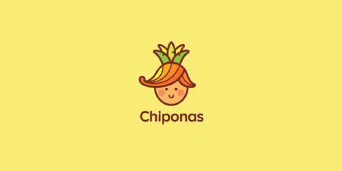 以水果与蔬菜为元素的标志设计