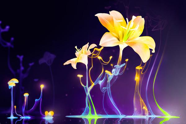 春之裳-春季橱窗背景花纹