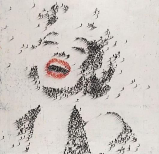 用人物投影绘制的明星脸。