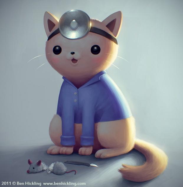超萌的动物角色插画欣赏