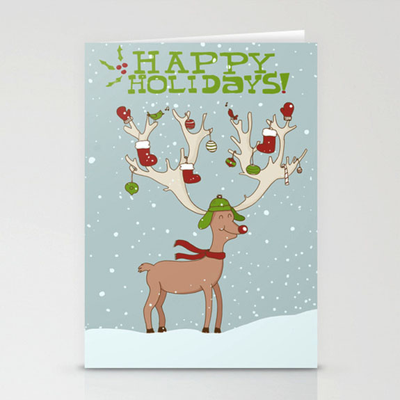 国外圣诞贺卡设计-欣赏-创意在线