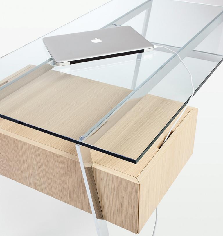 巧妙收纳功能的办公桌设计