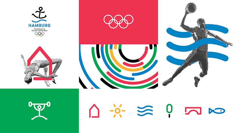 德国汉堡申办2024年奥运会标志新鲜出炉